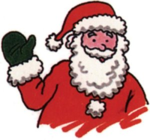 drawing of santa waving